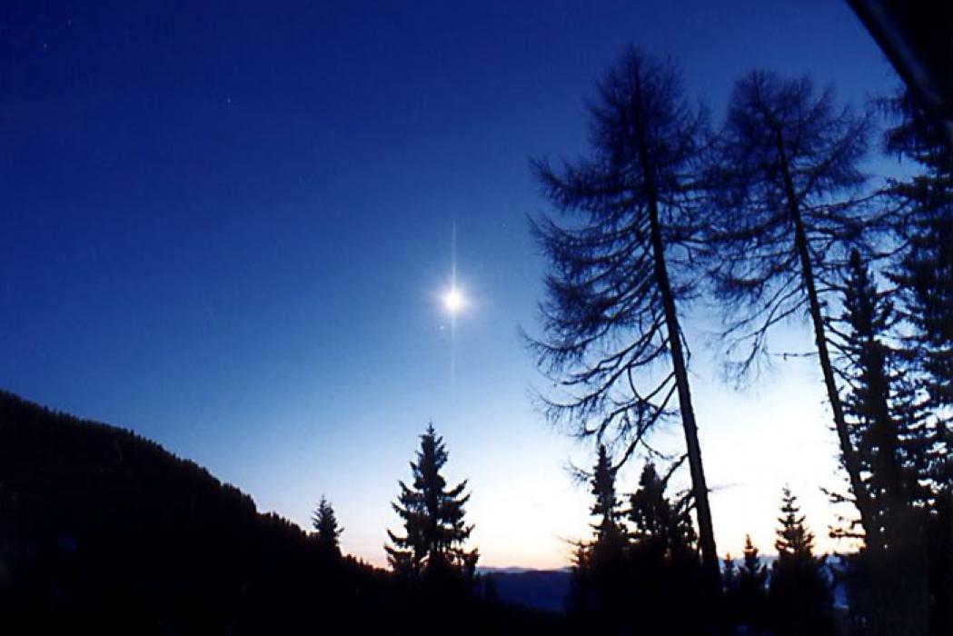 Одинокая звезда в небе картинка