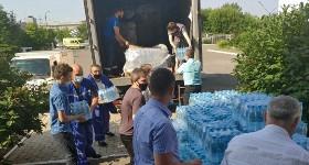 «Балтика» передала 24 000 бутылки воды в медучреждения