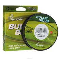 Леска плетеная Allvega Bullit Braid, цвет: ярко-желтый, 135 м, 0,12 мм, 7,1 кг