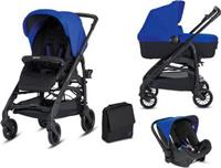 Коляска Inglesina 3 в 1 Trilogy System Colors на шасси Trilogy City Black (AA 35 H0SBL AE 38 H 0000 S) Синяя Италия