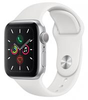 Часы Apple Watch Series 5 GPS 40mm Aluminum Case with Sport Band ремешок белого цвета