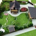 Озеленение и благоустройство приусадебного участка