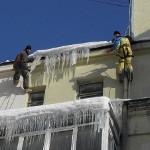 Правила сброса снега с крыш
